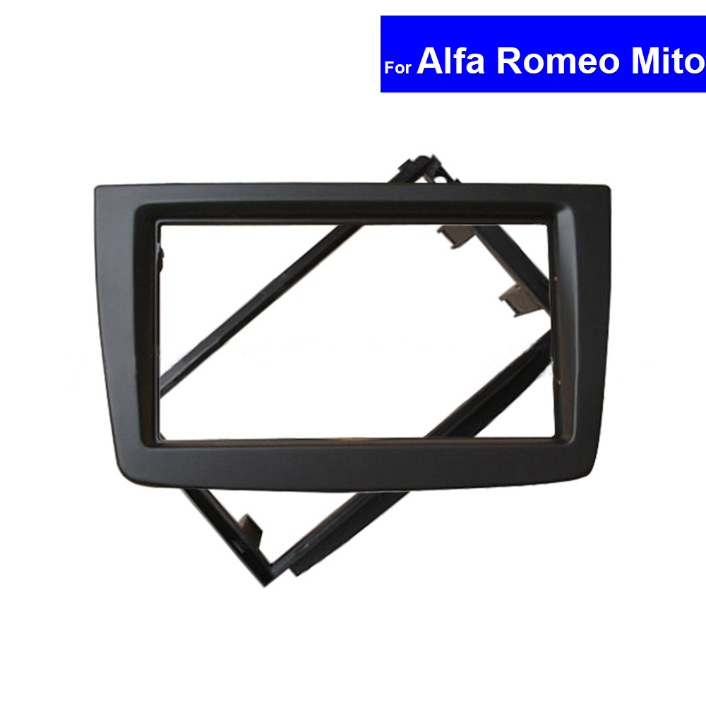 Car Frame Panel 2 Din for Alfa Romeo Mito 2008 GPS Navigation Fascias Auto Radio DVD Stereo Panel Dashboard Trim Kit Frame striped trim fluffy panel bomber jacket