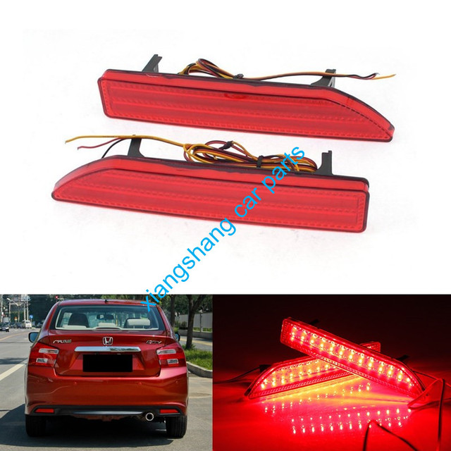 2 pcs para 2007 2008 2009 honda crv backup cauda choques traseiro lâmpada led refletor parada brake lâmpada luz de nevoeiro