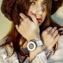 Mujeres pulsera Relojes 2017 Marca de Moda de Lujo del Cuarzo de Las Señoras de cuero Reloj creativo Reloj Del Vestido Ocasional de Pulsera Magnética
