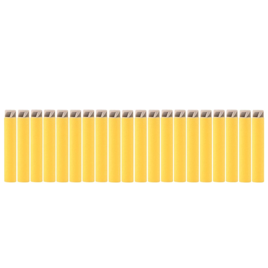 Hot Sale 20pcs Flat Darts Soft Bullet For Nerf Series Grey Head Yellow