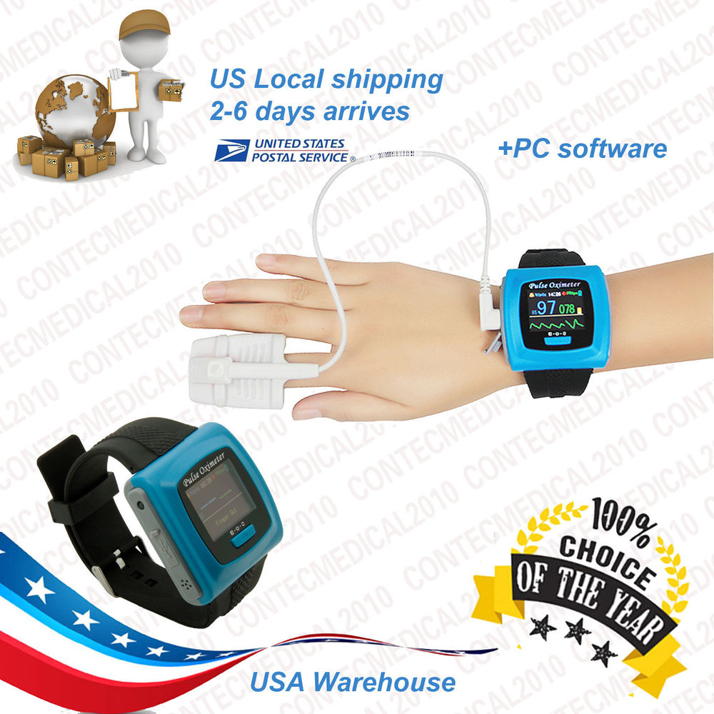 CONTECMED with extra oximeter probe CE FDA approved CMS50F portable finger tip USB new type wearable ce and fda approved cms50f fashion portable finger tip wrist pulse rate meter wrist watch usb cable software
