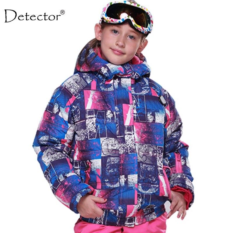 Detector Kids Winter Children Clothing Girls Skiing Jacket -20 Degree Ski Jacket for Girls Waterproof Windproof CoatDetector Kids Winter Children Clothing Girls Skiing Jacket -20 Degree Ski Jacket for Girls Waterproof Windproof Coat