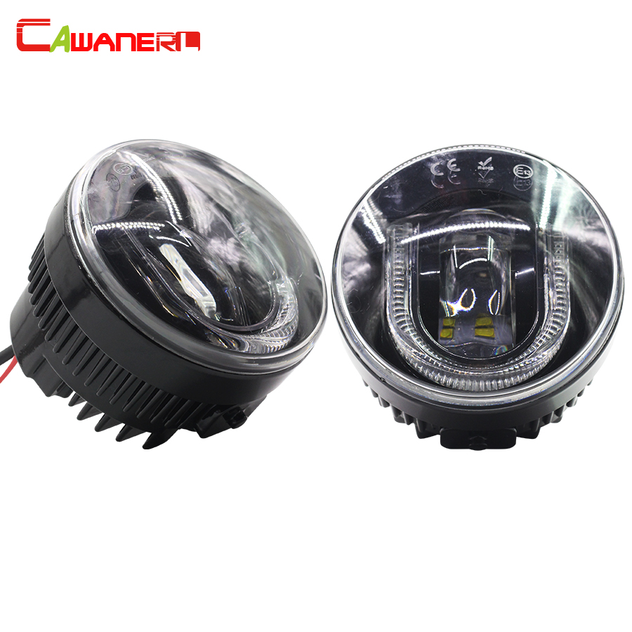Cawanerl For Fiat 500L Sedici Punto Evo 2 Pieces Car LED Fog Light Daytime Running Lamp DRL 12V High Quality ! for fiat punto fiat 500 stilo panda small hole ventilate wear resistance pu leather front