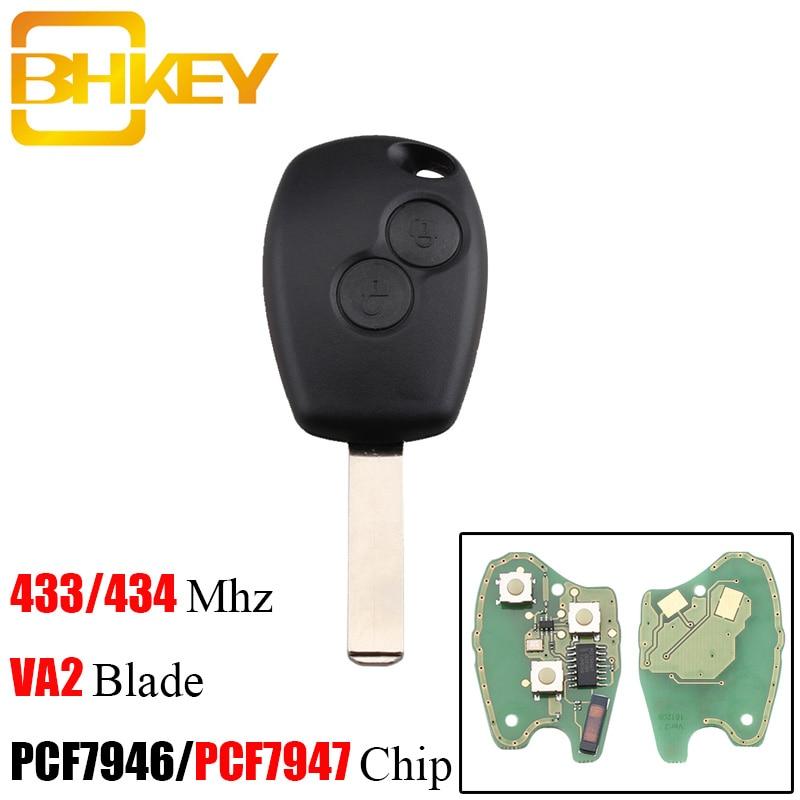 BHKEY Remote Car Key 433Mhz PCF7947/PCF7946 Chip For Renault Duster Modus Clio 3 Twingo DACIA Logan Sandero Wholesale DiscountBHKEY Remote Car Key 433Mhz PCF7947/PCF7946 Chip For Renault Duster Modus Clio 3 Twingo DACIA Logan Sandero Wholesale Discount