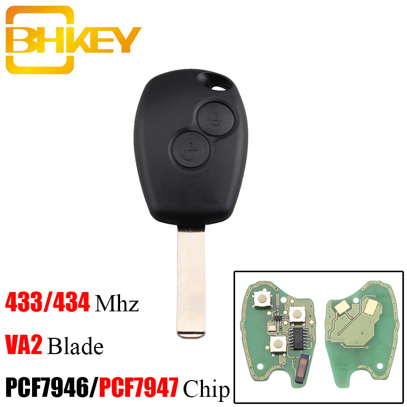 BHKEY Remote Car Key 433Mhz PCF7947/PCF7946 Chip For Renault Duster Modus Clio 3 Twingo DACIA Logan Sandero Wholesale Discount