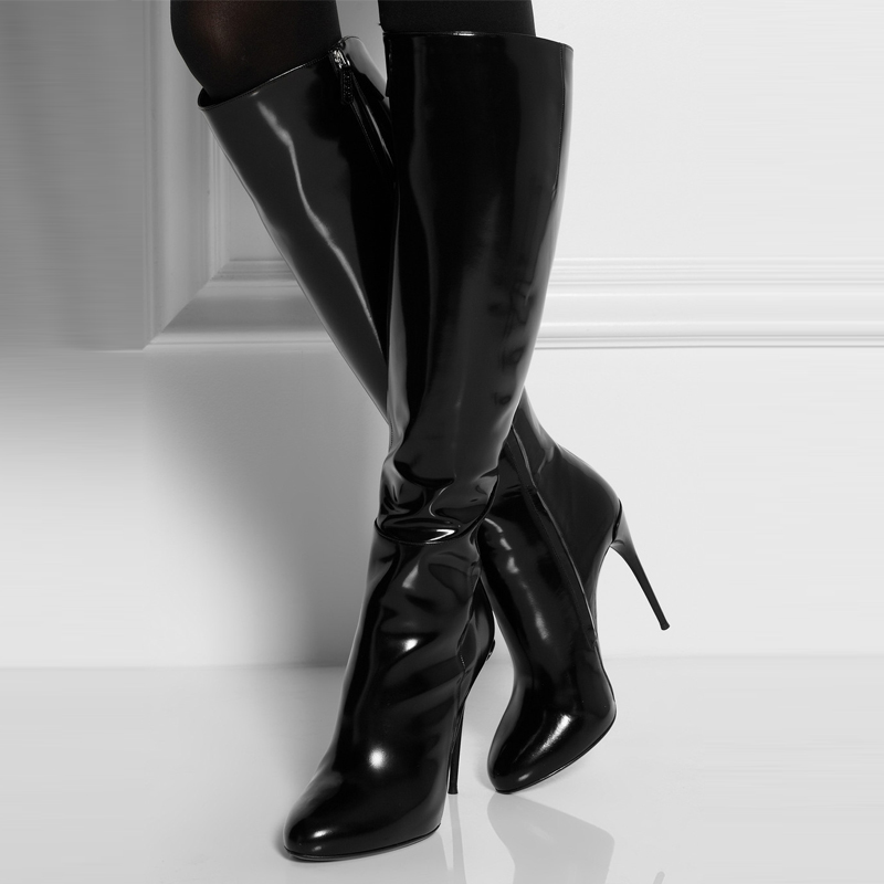 Black Patent Leather Pointed Women
