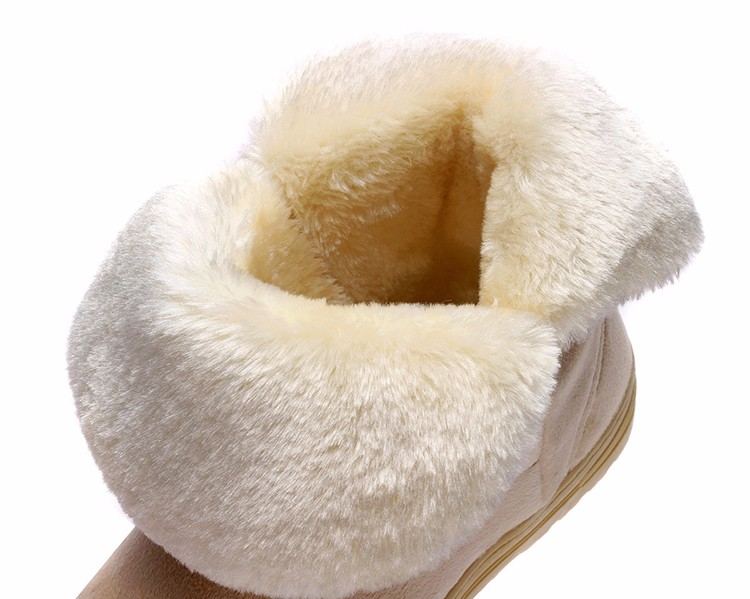 Women Snow Boots 2016 Warm Solid Plus Velvet Flat Women Boots Winter Bowtie Casual Shoes Round Toe Wild Ladies Shoes SNF905 (15)