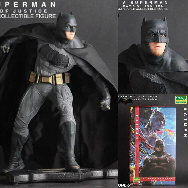 Crazy Toys Batman V Superman Dawn of Justice Batman 1/6 th Scale Collectible Figure Toy 1 6 scale batman v superman ben affleck blue clothing suit without head