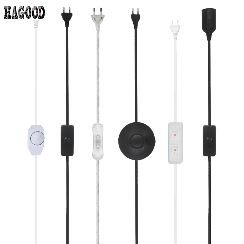 Line Cable 301 Dimming /303 /304 /317 /Double On Off Power Cord For LED Table Lamp Light Fixture with Button switch EU Plug Wire 3 pcs on line cable 1 8m on off power cord for led lamp with push button switch us eu plug wire light switching black white