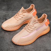 Summer New Women Men Tide Running Shoes leisure flying weaving mesh breathable casual boy shoes Outdoor Sport Sneakers Hot Sale