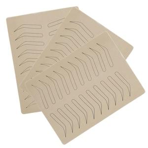 Image 5 - 1PC גומי עיסוק עור מזויף False גבות פיגמנט משלוח עבור Microblading קבוע איפור קעקוע אימון למידה למתחילים