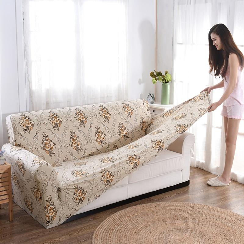 Pink Sofa Cover: European Style Sofa Cover Slipcover Soft Stretch Fashion