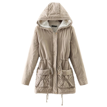 New winter coats women cotton-wadded slim jacket thermal plus size warm parkas quilt overcoat Poncho jaqueta casacos feminina