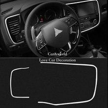 Аксессуары для Mitsubishi Outlander 2016 2017 интерьер центр Средний панель управления накладка наклейка автомобиля-Стайлинг