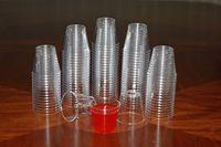40 шт прозрачный пластиковый одноразовый стаканы, бокалы жесткие для вечерние чашки для свадебных напитков