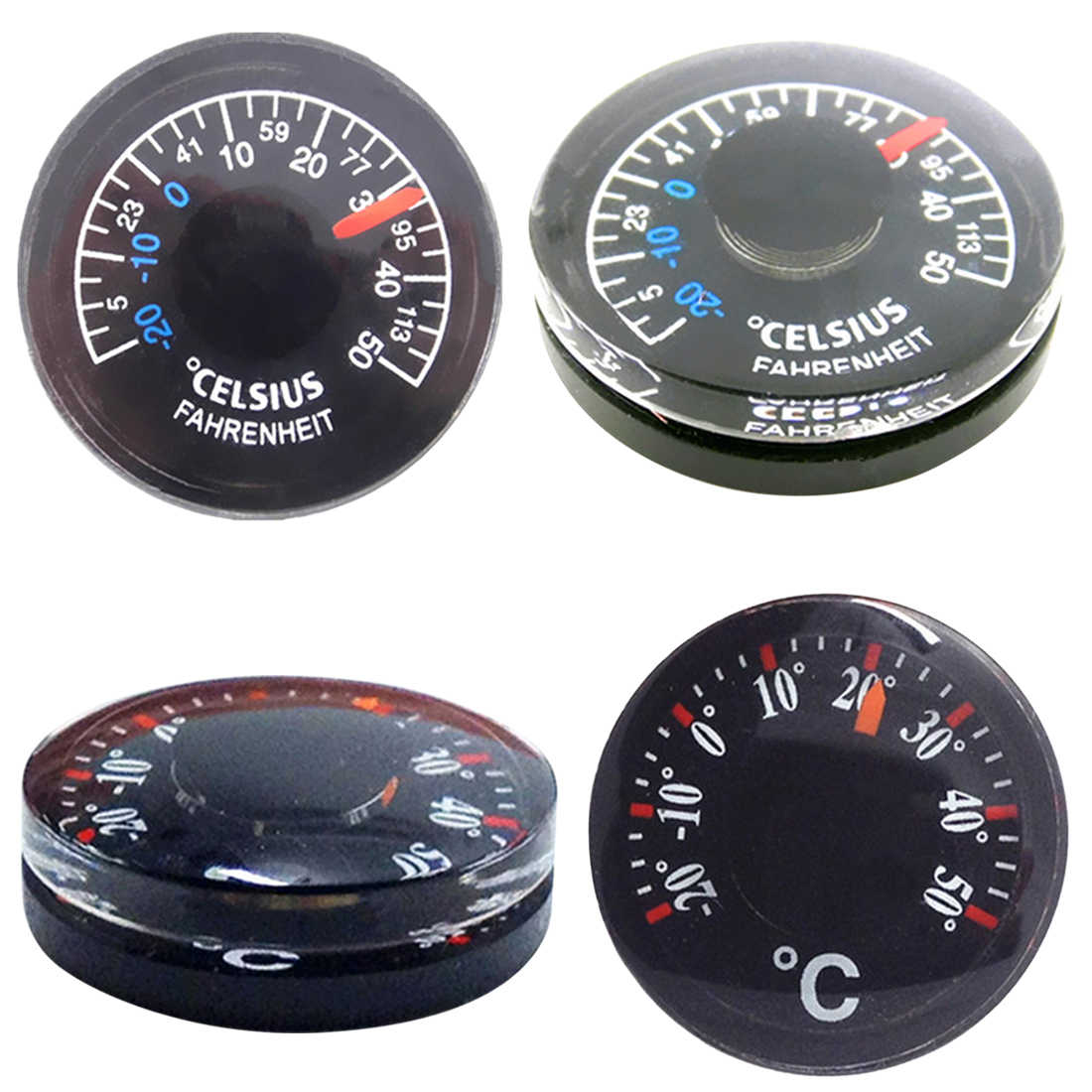 -20-50C Diameter 15/20/25/27mm Plastic Round Mini Thermometer Mini Circular Celsius