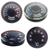 Plastic Round Mini Thermometer Measurement & Analysis Instruments