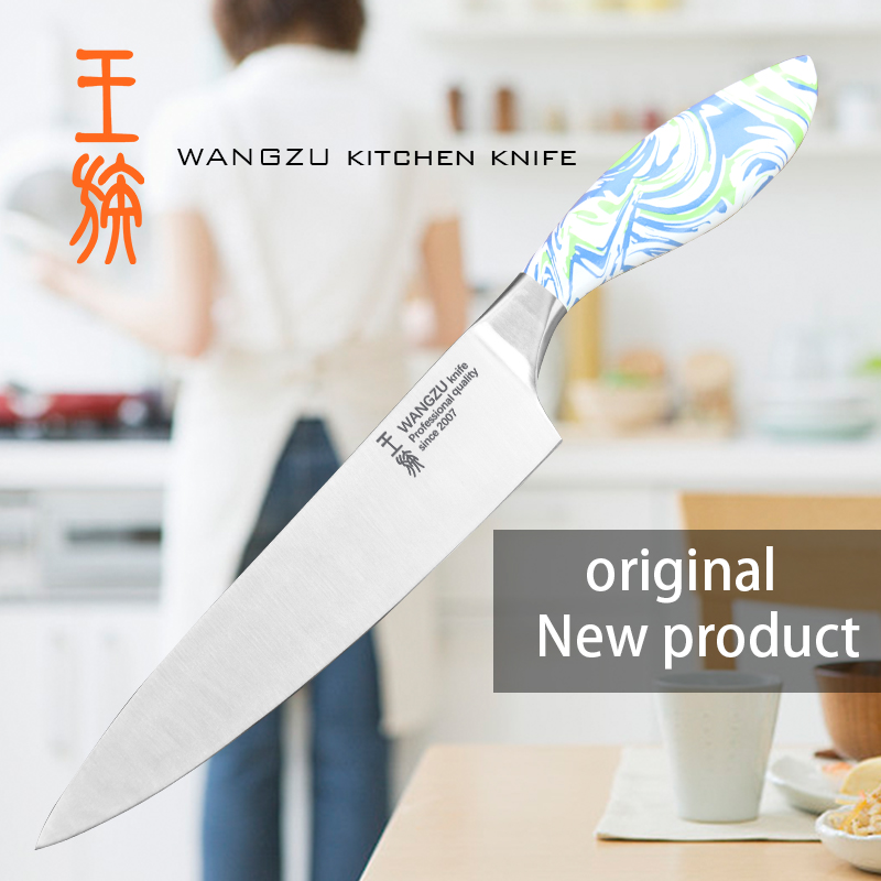 WANGZU high quality stainless steel kitchen knife set chef cleaver utility knife kitchen tools(China)