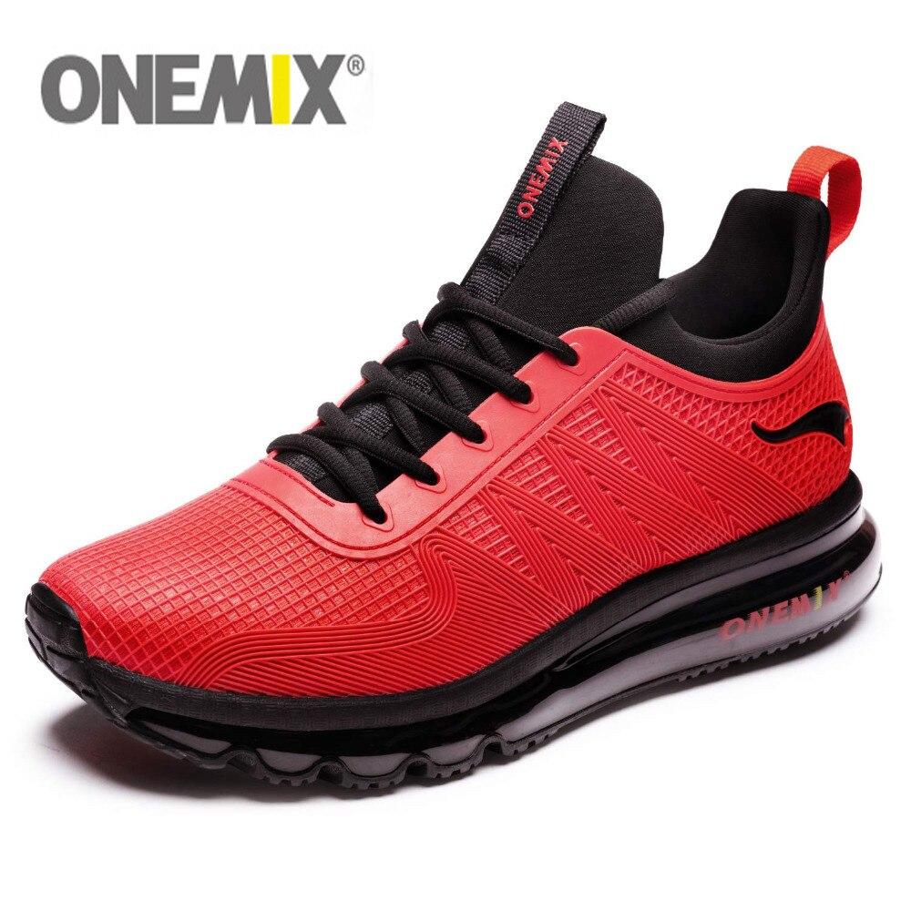 ONEMIX גברים ריצה נעלי אופנה מקרית חיצוני ריצה אוויר ריפוד חדר כושר כושר סניקרס מקסימום 12