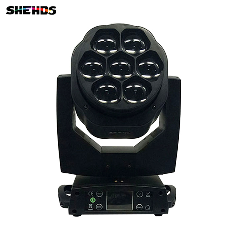 Led Moving Head Beam Light 7x15W RGBW Professional Stage Light DJ DMX Disco Beam+Wash Effect Led Mini Bee Eye Moving Head Light high quality 9x10w rgbw led spider beam moving head light for disco dj bar club led beam wash light dmx effect stage lighting