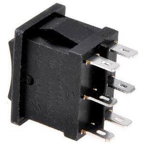 Image 4 - Interrupteur à bascule noir 3 positions KCD2 203 6P