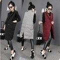 Novas mulheres jaqueta de inverno Grande jaqueta wadded feminina de algodão-acolchoado casacos de espessamento das mulheres casaco de inverno preto cinza vermelho