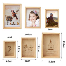1PC Vintage Multi Decorative Photo Frame Online Home Decor Art Wooden Wedding Mini Pictures Frames DIY Family Home Decor(China)