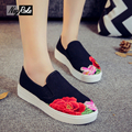 Spring Chinese ink painting heavy embroidered shoes Women Flats Casual Mary Jane flats shoes thicken oxford Shoes for women