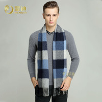 Men S Fashion Wool Scarf Male Long Thick Warm Winter Scarves Adult British Style Plaid Wool