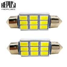 Car LED Festoon Canbus 5630 C5W C10W Auto Dome Light Vanity Lamp license plate light 31mm 36mm 39mm 41mm Styling White