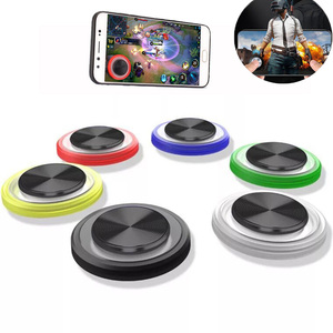 Image 3 - Jogo redondo joystick do telefone móvel rocker metal botão controlador almofada de jogo para pubg ventosa pubg gamepad para iphone android