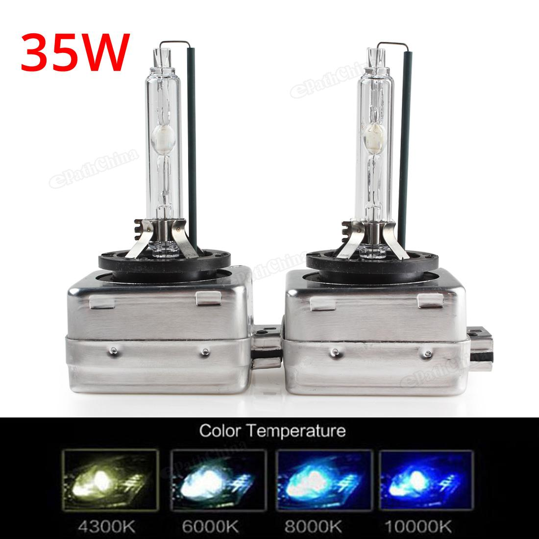 D3S D3C 2pcs 35W HID Xenon Headlight 12V Car Headlight Bulb Replacement Lamp Colors 4300K 6000K