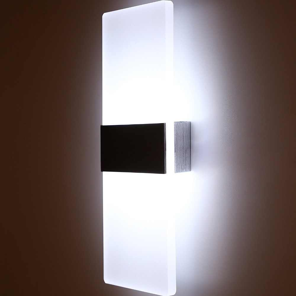 Led Acrylic Wall Lamp Wall Mounted Bedroom Lights Decorative Living Room Stair Corridor Sconce Wall Lights Cold Warm White Led Indoor Wall Lamps Aliexpress