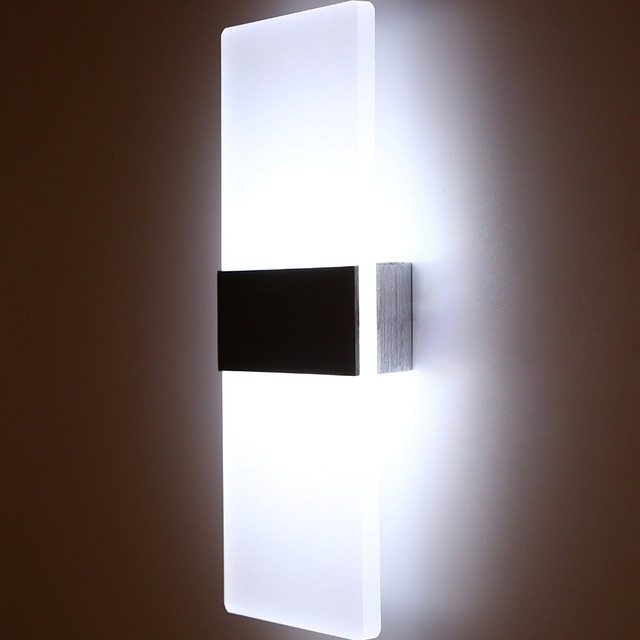 Led Acrylic Wall Lamp Mounted Bedroom Lights Decorative Living Room Stair Corridor Sconce