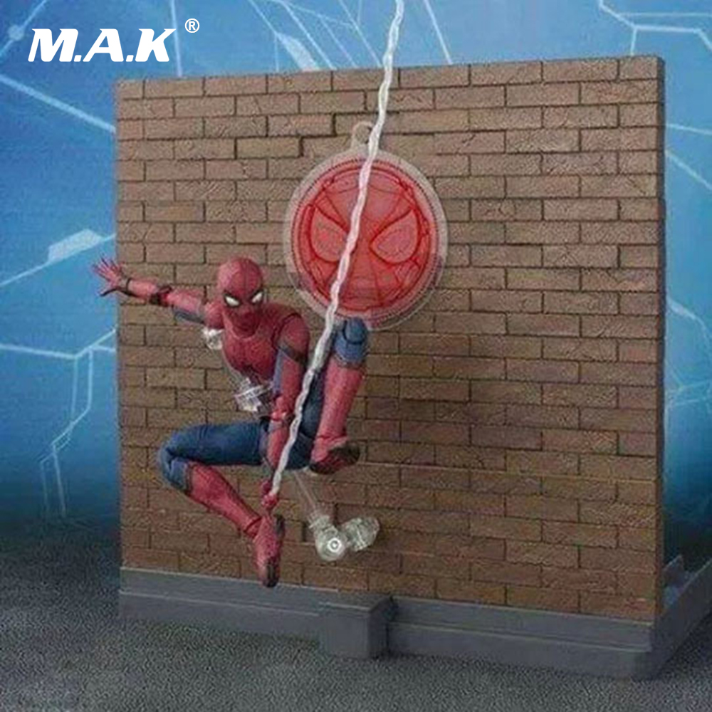 15cm PVC Spiderman Homecoming Action Figures Deluxe Edition with Box for Collections Toys Gifts