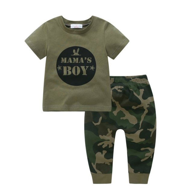 bc9a23a81b0d WEIXINBUY Army Green Daday s Boy Girl Newborn Baby Boys Girls T shirt Tops  Pants Outfits Set Clothes-in Clothing Sets from Mother   Kids on  Aliexpress.com ...