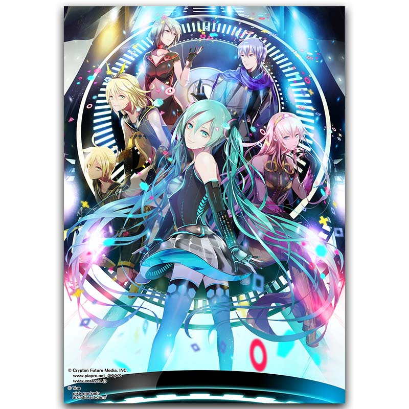 Hatsune Miku Vocaloid Art Silk Fabric Poster Print 30x45cm 60x90cm Sexy Anime Girl Wall Pictures For Living Room Decor