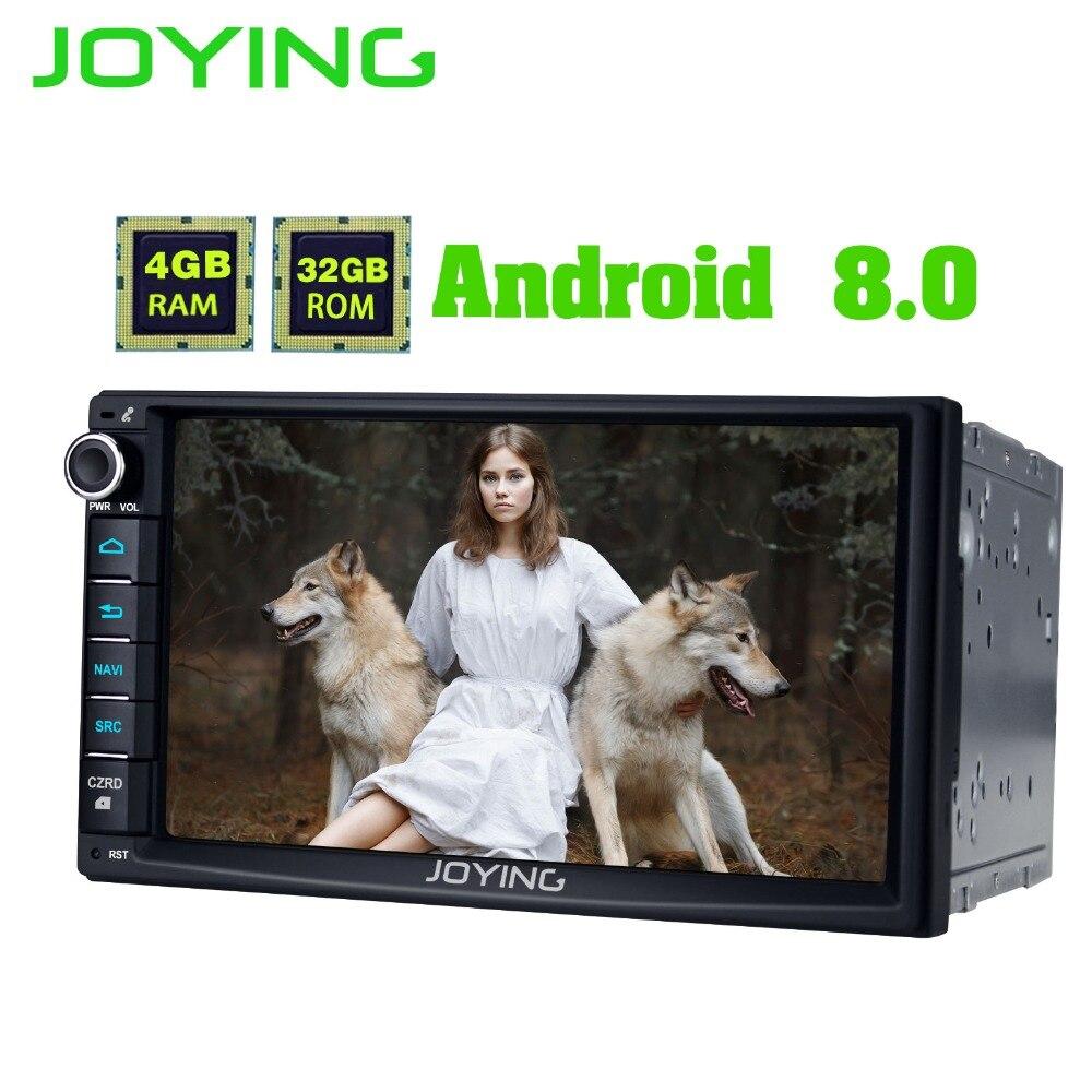 JOYING 7 Android 8.0 Universel De Voiture Radio Stéréo GPS Navigation Double 2 Din Magnétophone Tête Unité Soutien Zlink OBD2 WIFI