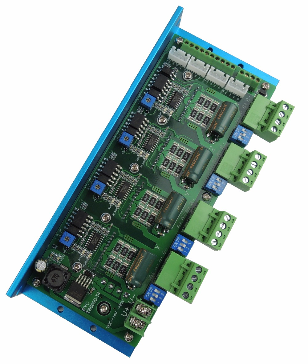 Free Shipping Quality Assurance CNC TB6600 4 Axis 4.5A Stepper Motor Driver Board For Engraving Machine #RYC TB6600 T4-in Motor Driver from Home Improvement    3