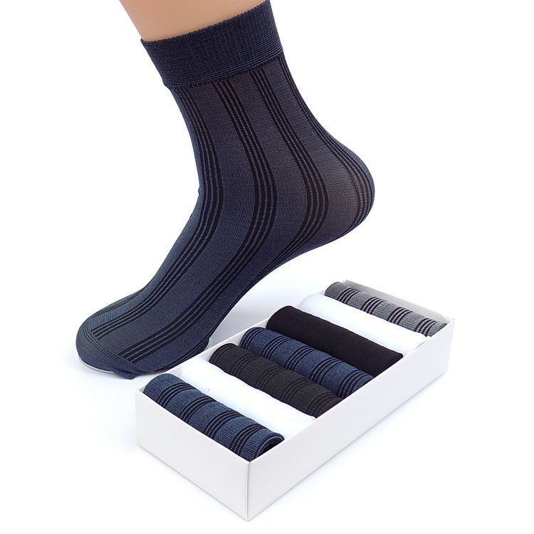 7 Pairs/Lot New 2017 Fashion Socks Men Casual In Tube Business Socks Brand Man Breathable Solid Color Socks Male with Box