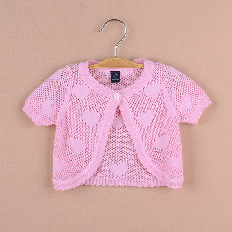 Jacket Cardigan Beach-Coat Girl Toddler Summer 12 Thin Pink RKC194007 6-10 Shawl 24-Month