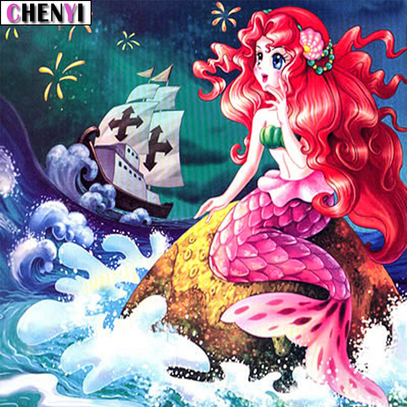 5D Diamond Painting Mermaid and Butterfly Cross Stitch Kits Home Decor Arts Gift