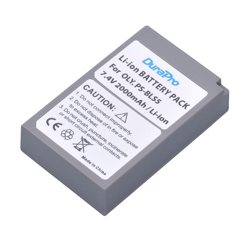 DuraPro PS-BLS5 PS BLS5 BLS-5 BLS-50 Batterie per Foto/Videocamera per olympus Pen E-PL2 E-PL5 E-PL6 E-PL7 E-PM2 OM-D E-M10 E-M10 ii STYLUS 1