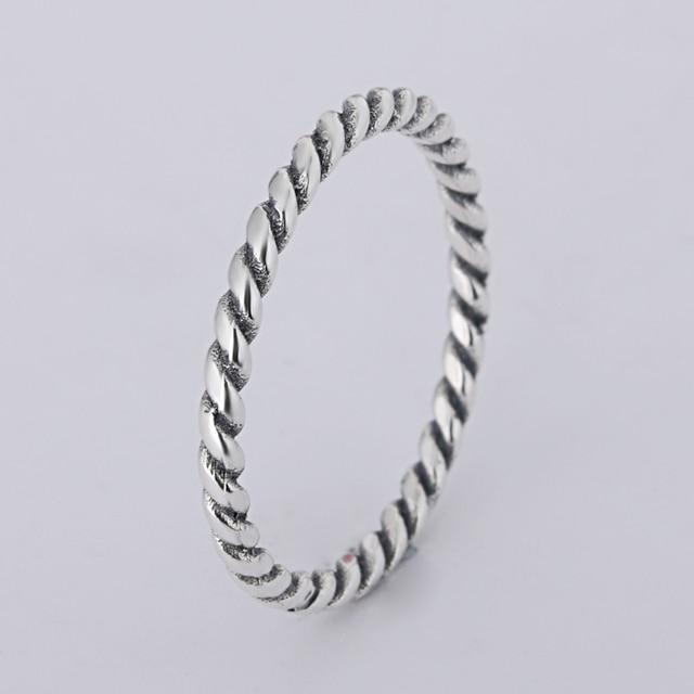 A wholesale Sale Fashion jewelry jewelry Pave Setting charm 925 silver Retro Rin