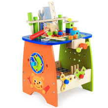 New Wooden Baby Toys 89pcs DIY Tool Table Educational