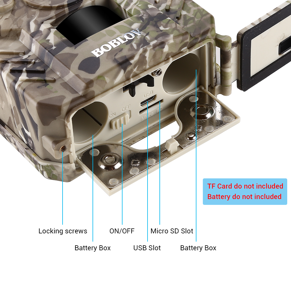 Image 5 - BOBLOV PR200 12MP 49PCS IR Leds Trail Hunting Camera Waterproof Outdoor Video Surveillance Wildlife Cameras Photo Traps w/belt-in Hunting Cameras from Sports & Entertainment
