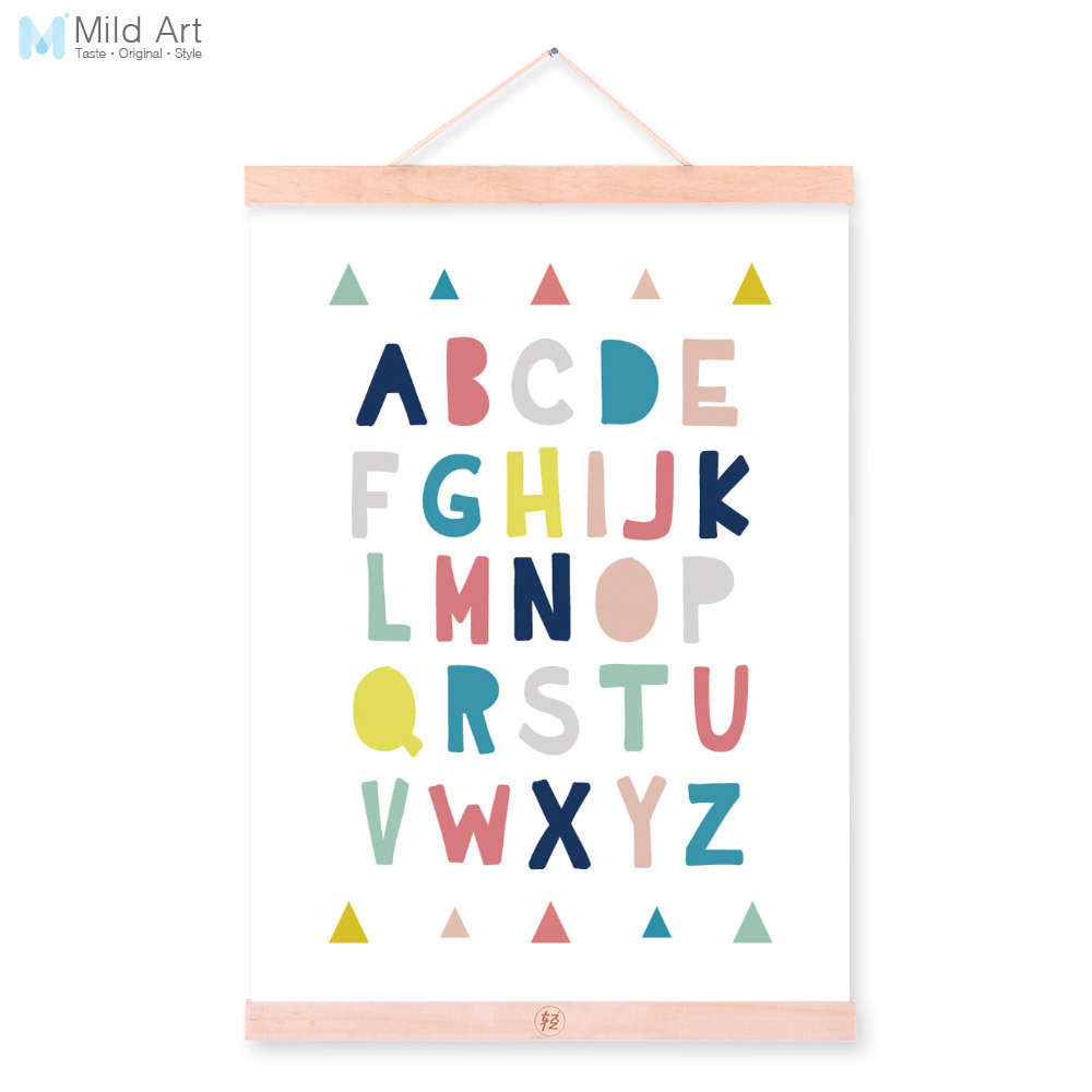 Nursery Ideas And Décor To Inspire You: Modern Letter Motivational Quote Wooden Framed Canvas