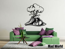 Mad World-Volcano Fun Science Adventure Wall Art Stickers Wall Decal Home DIY Decoration Removable Bedroom Decor Wall Stickers