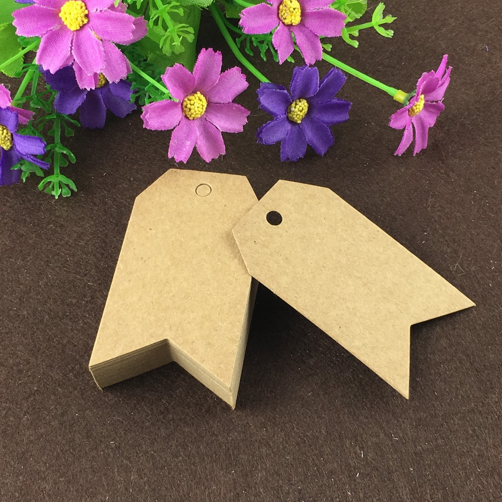 200PCS Kraft Paper Gift Tags 7*4CM Price Tags Packaging Labels DIY Paper Cards For Gift/Box/Jewelry/Cosmetics/Garment/Toys/Cups
