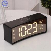 Touch Alarm Clock Digital LCD Display Reveil Night light Table Clocks Snooze Function Decoration Desk Clock